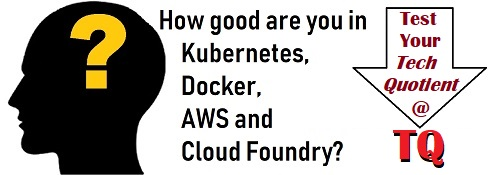 How good are you in Kubernetes, Docker, AWS and Cloud Foundry PaaS? Test your Tech Quotient with TQ.